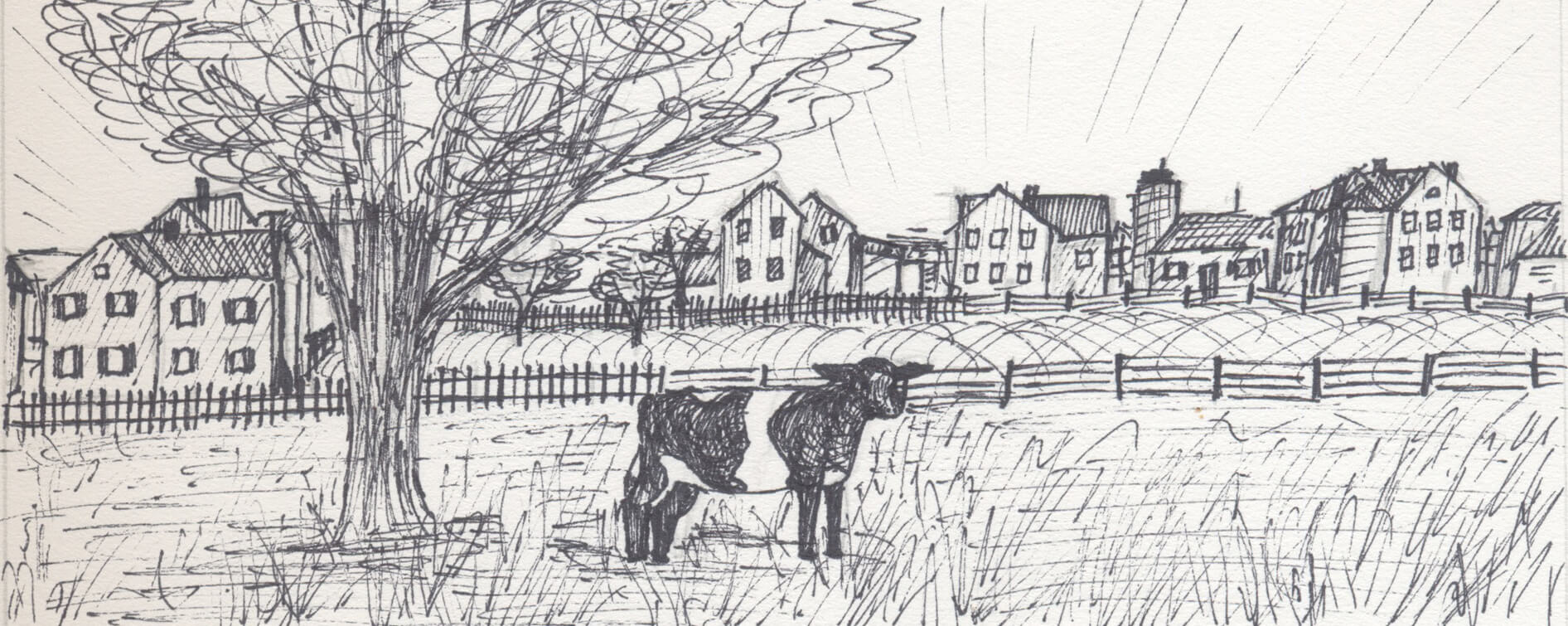 Black and White Drawings of Historic Gettysburg